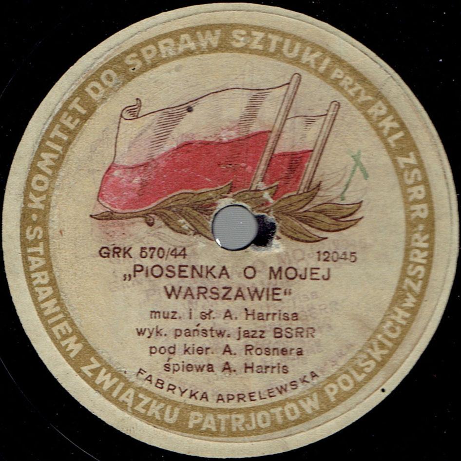Piosenka o mojej Warszawie : walc - Stare Melodie